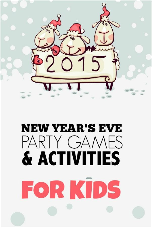 Make this New Year's Eve the best with these New Year's Eve party games and activities for kids!