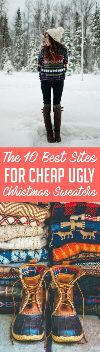 Here are the best websites for cheap ugly Christmas sweaters!
