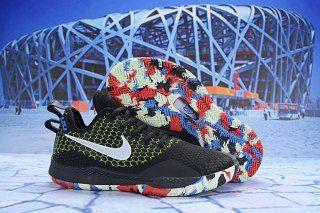 5683dc9873646 Nike LeBron Witness III Black Chrome-Cool Grey-Volt AO4433-009 Men s  Sneaker Basketball Shoes