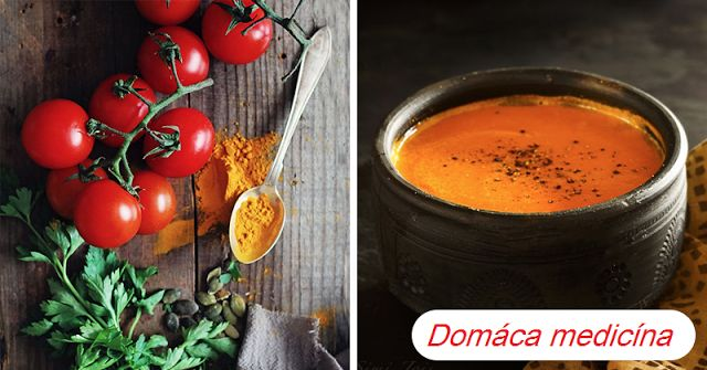 Polievka z kurkumy, paradajky a čierneho korenia za 15 minút, proti zápalom, rakovine...   Domáca Medicína