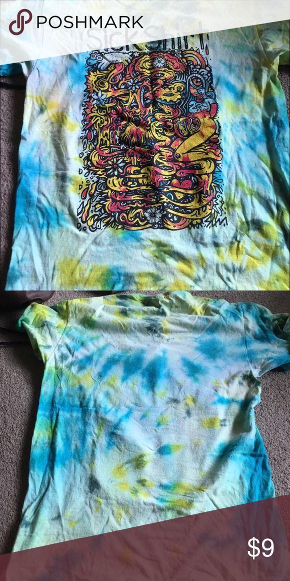 SICKSHIRT Artists the dye tee Cool fun funky t shirt with beautiful design Tops Tees - Short Sleeve