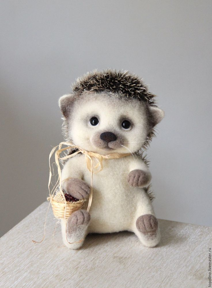Купить ёж Вахмурка - валяние из шерсти, валяная игрушка, ежик, ежик валяный, авторская игрушка