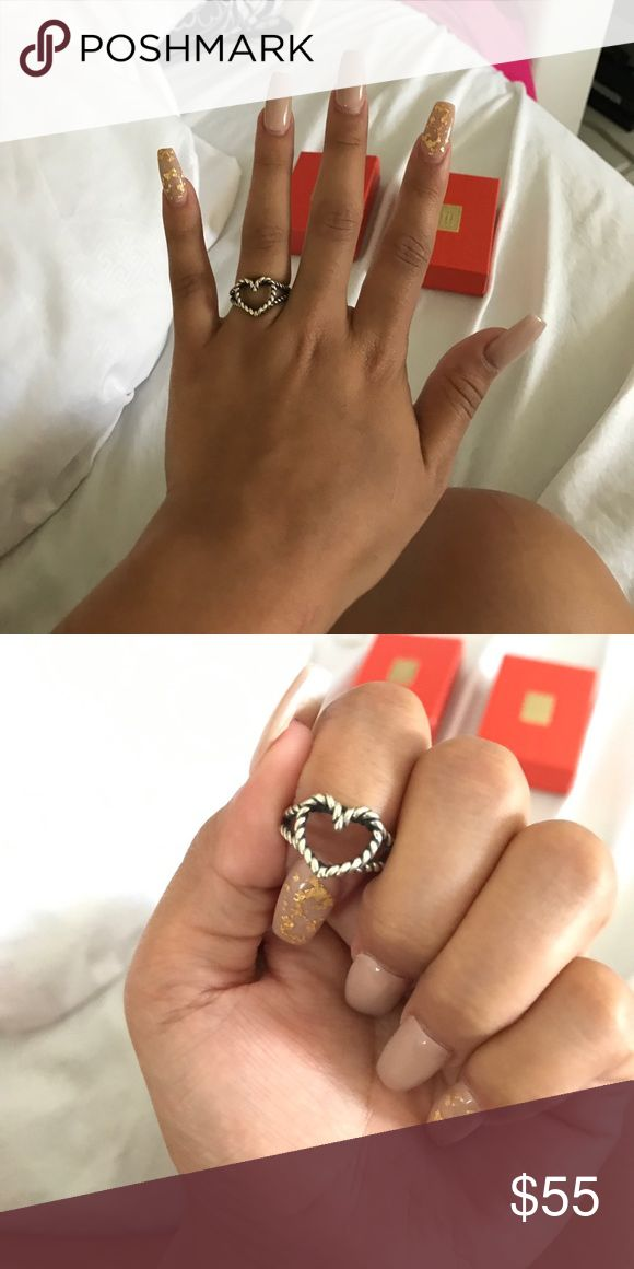 James Avery ring Fairly new James Avery 60 years twisted heart! Size 6 1/2 James Avery Jewelry Rings