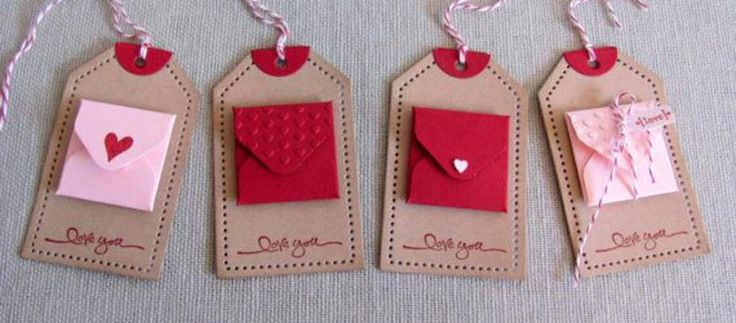 TAGS WITH MINI SQUARE ENVELOPES
