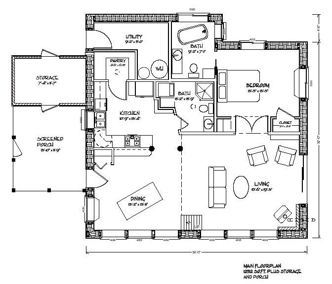 Eco Nest 1200 Plan One Floor Living With A Loft Area