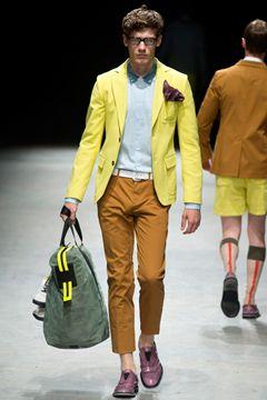 #Color #Amarillo Andrea Pompilio Spring 2013 Menswear Collection @diariodeltraje