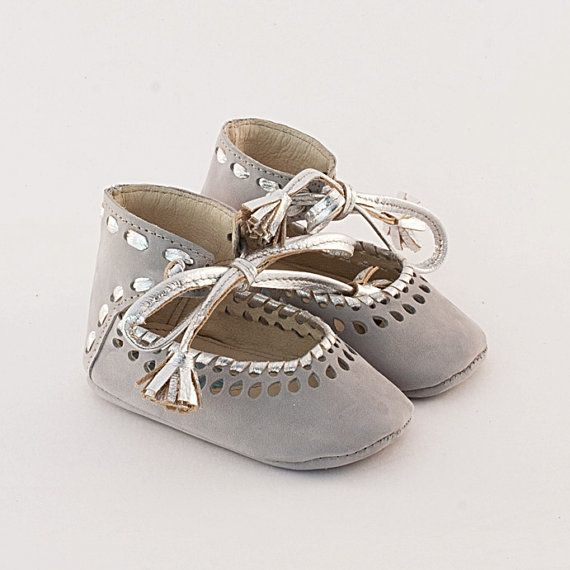 baby leather booties