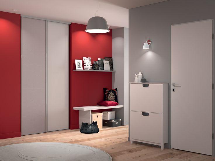 sogal appartement entr e placard coulissant mod le acier premio first portes de placard by. Black Bedroom Furniture Sets. Home Design Ideas