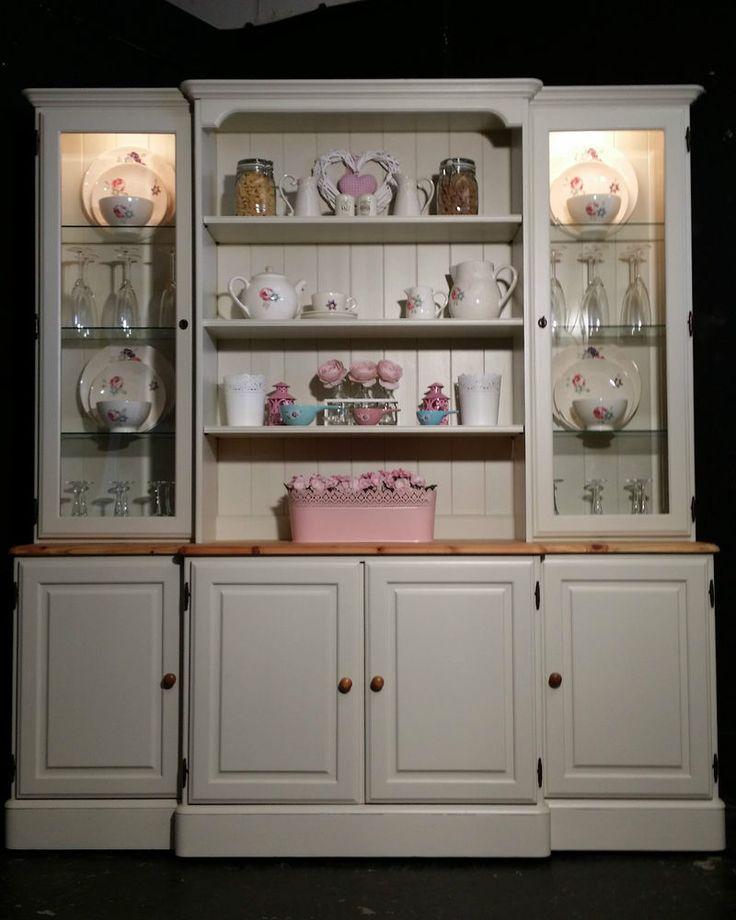 Large Ducal Pine Farmhouse Kitchen Welsh Dresser Shabby Chic in Farrow &…