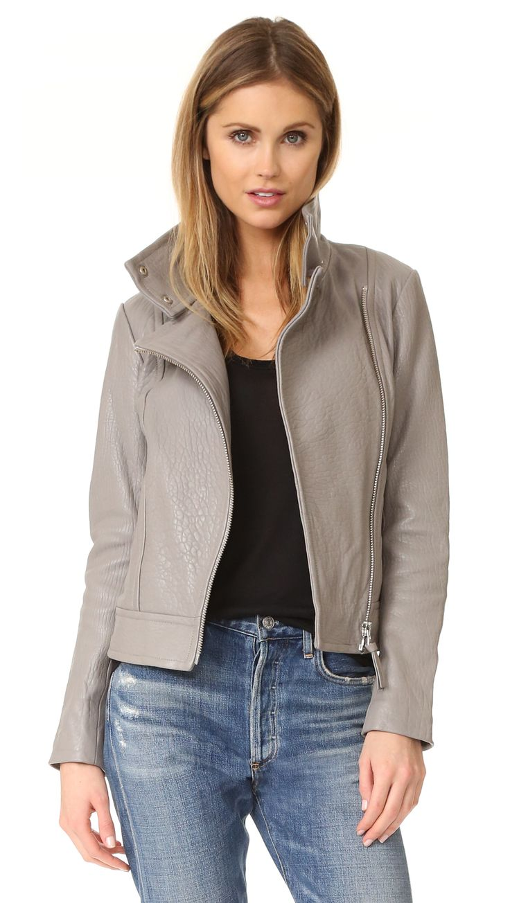 ¡Cómpralo ya!. Mackage Lisa Pebble Leather Jacket - Mineral. A Mackage leather jacket with a hint of texture. Zips fasten the placket, 2 pockets, and cuffs. Long sleeves. Lined. Fabric: Washed leather. Shell: 100% sheepskin. Lining: 100% polyester. Leather clean. Imported, China. Measurements Length: 22in / 56cm, from shoulder Measurements from size S. Available sizes: XXS , chaquetadecuero, polipiel, biker, ante, antelina, chupa, decuero, leather, suede, suedette, fauxleather…