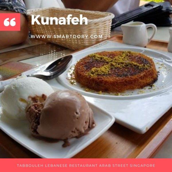 Tabbouleh Lebanese Restaurant Arab Street Singapore In 2020 Sweet Desserts Food Satisfying Food