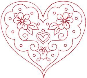 valentine heart - would be pretty as red work embroidery...