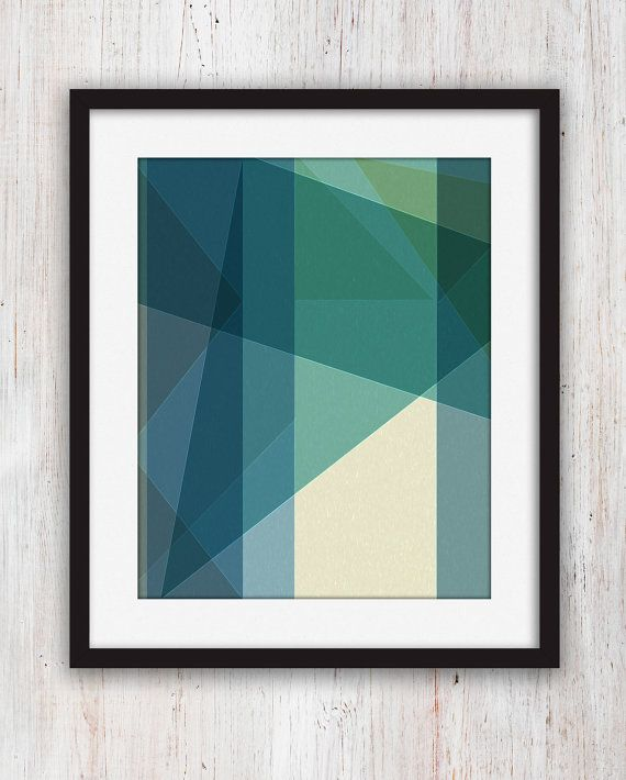 Beautiful modern geometric home art good for my bedroom or for Modern art home decor etsy
