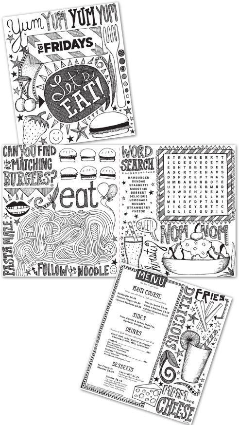 staceywalkeroldham: kid's menu for TGI Friday's