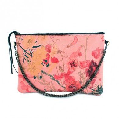 Flower Clutch #vangle #leather #clutch #genuineleather #fashion shop @ www.vangle.it