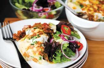 Use Quorn mince instead of beef to make this tasty vegetarian lasagne which is low in fat and only has 323 calories per portion