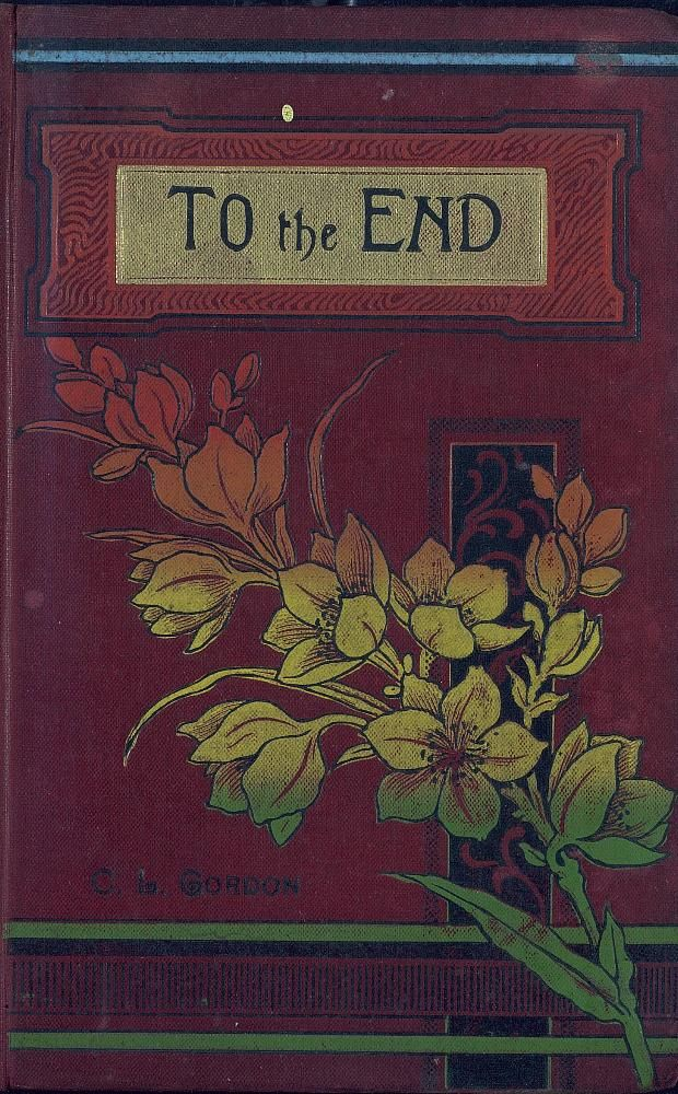 """Vintage book cover illustration: """"To the End"""""""