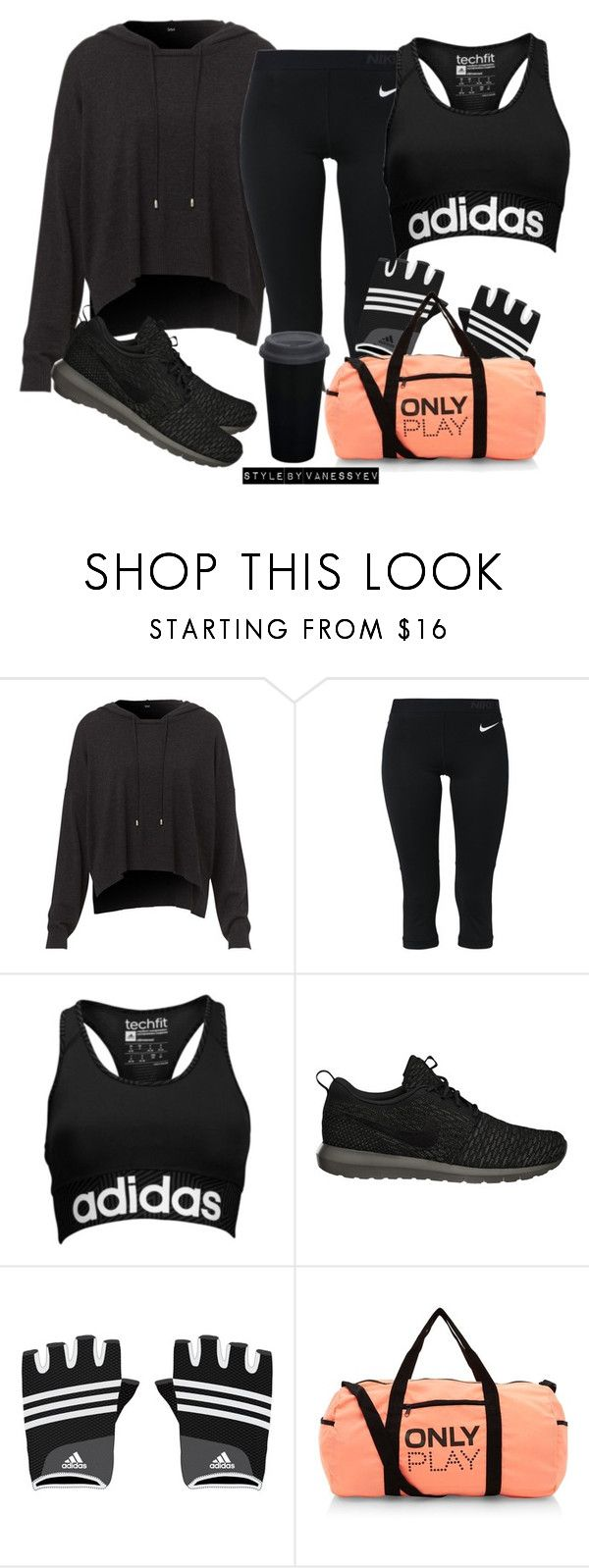 """#651"" by vanessayev ❤ liked on Polyvore featuring NIKE and adidas"