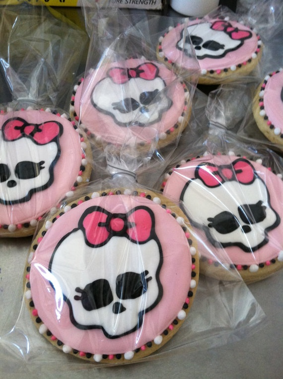 Monster High sugar cookies by TiffanysSweetSpot on Etsy, $36.00