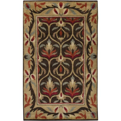 2x3 Hand Knotted Arts U0026 Crafts Mission Style Chocolate New Zealand Wool  Area Rug