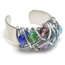For your bridal party. This beautiful, intricately wrap ring, comes in 25 different color combinations! Made of recycled aluminum wire and beautiful glass beads, these make a special gift for everyone in your bridal party.: Gift, Glasses Beads, Color Combinations, Bridal Parties, Glass Beads, Beads Wraps, Beads Ideas, Jewelry Rings, Wraps Rings
