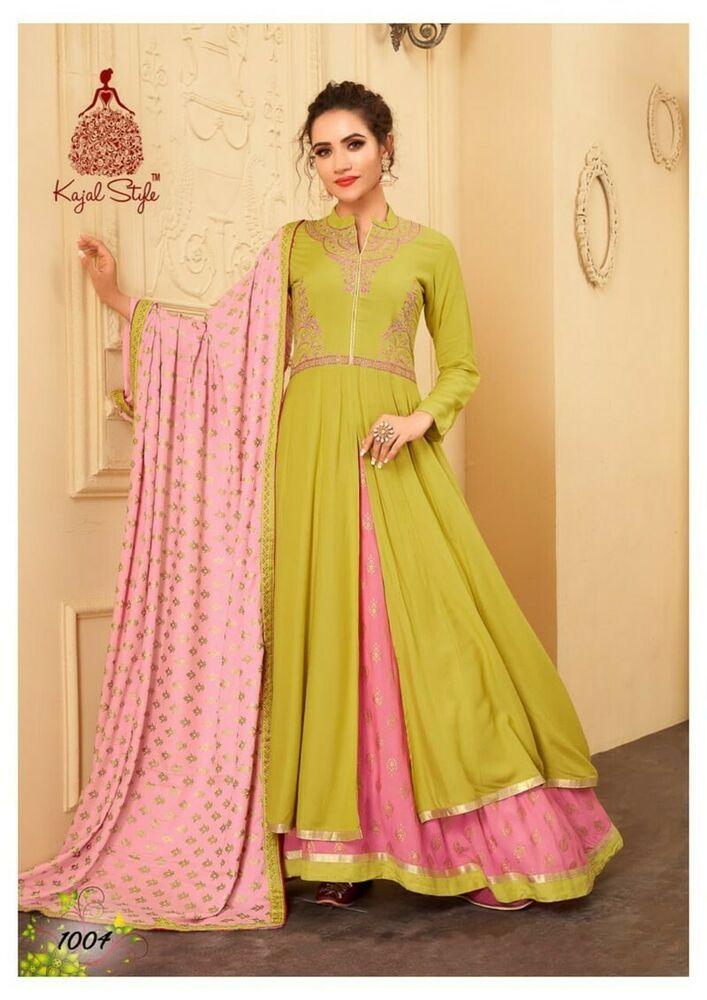 Women indian kurta kurti bottom Dress anarkali pakistani tunic bollywood fs011