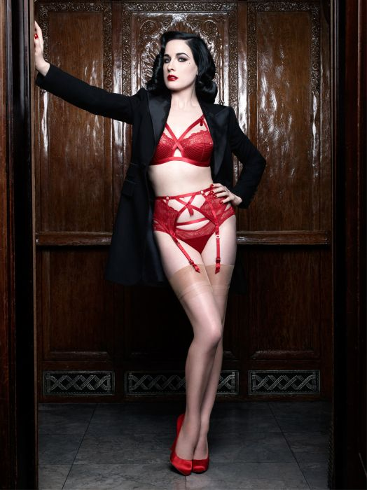 Best Lingerie Brand Overall: Dita Von Teese - Red adds even more drama to the strappy aesthetic of the Madame X range.