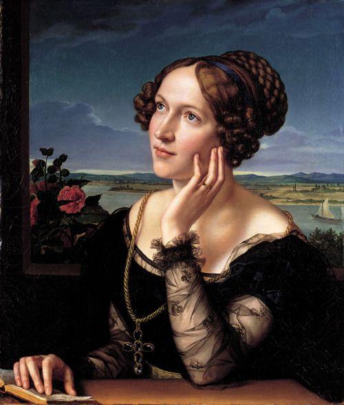 - Wilhelmine Begas, the Artist's Wife, Karl Joseph Begas.: