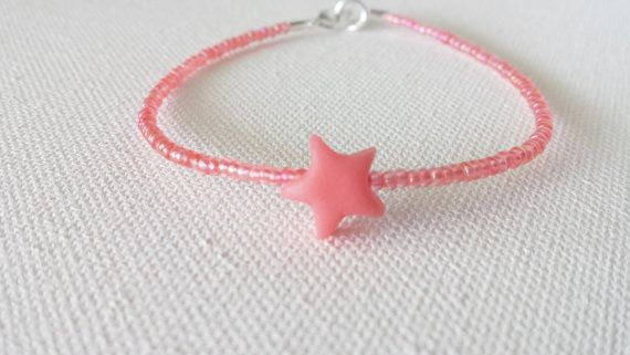 Pulseras de coral pulsera del encanto de la por StephanieMartinCo