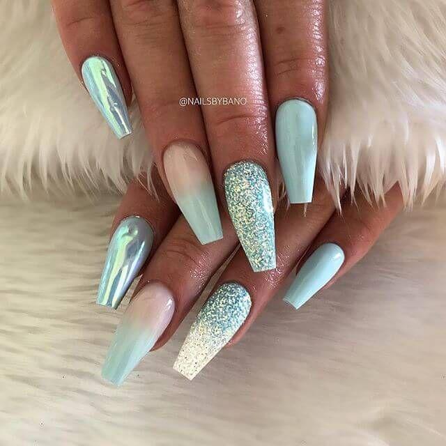 50 atemberaubende blaue Nageldesigns für einen mutigen und schönen Look – Nails