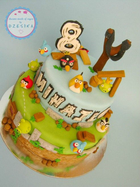 37 best images about angry birds birthday party on for Angry birds cake decoration kit