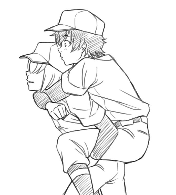 Diamond No Ace Genderbend: Haruichi X Sawamura (Genderbend)