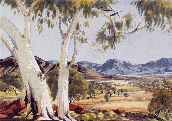 Indigenous australian artist albert namatjira 1902 1959 for Australian mural artists