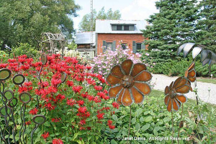 Artful Garden-Monarda & Metal Flowers