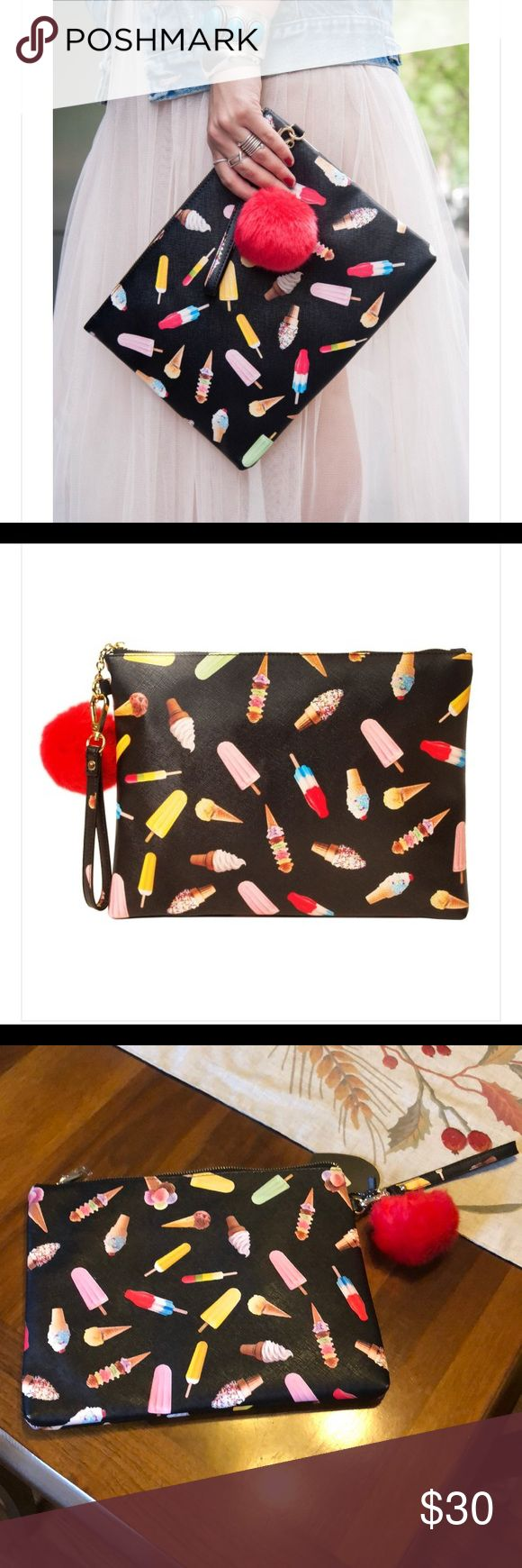 😘New Beautiful Ice Cream Clutch bag!! This bag is gorgeous!!! It's perfect for any occasion &  it's new dress up or down!!! Bags Clutches & Wristlets