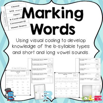 Six Syllable Types Marking with  Orton Gillingham Instruction