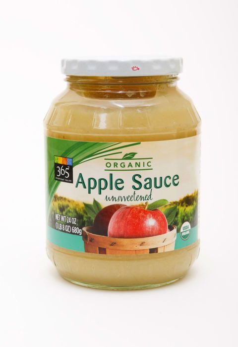 """Nothing beats a classic, so stock up on Whole Foods' 365 organic applesauce ($2.69 for 24 oz.). Taste testers commended it for its """"intense apple flavor"""" — and we were impressed with its lean price tag."""