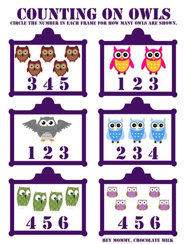 Cute preschool ideas with owls  Hey Mommy, Chocolate Milk