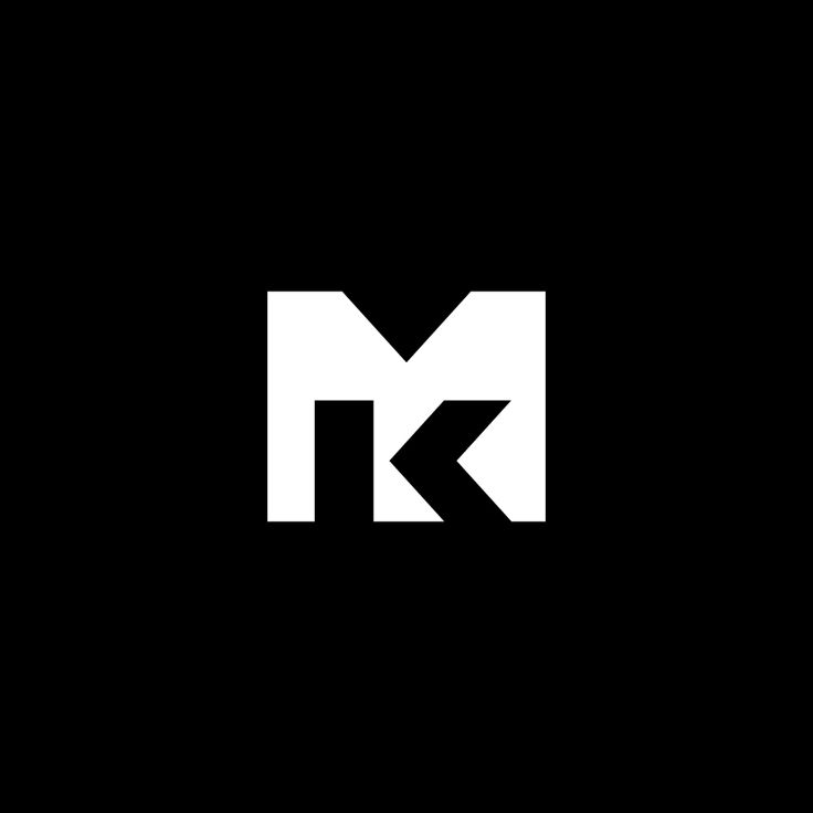 A MK logomark presented as a concept for a designer/builder.  #logo #branding #logomark