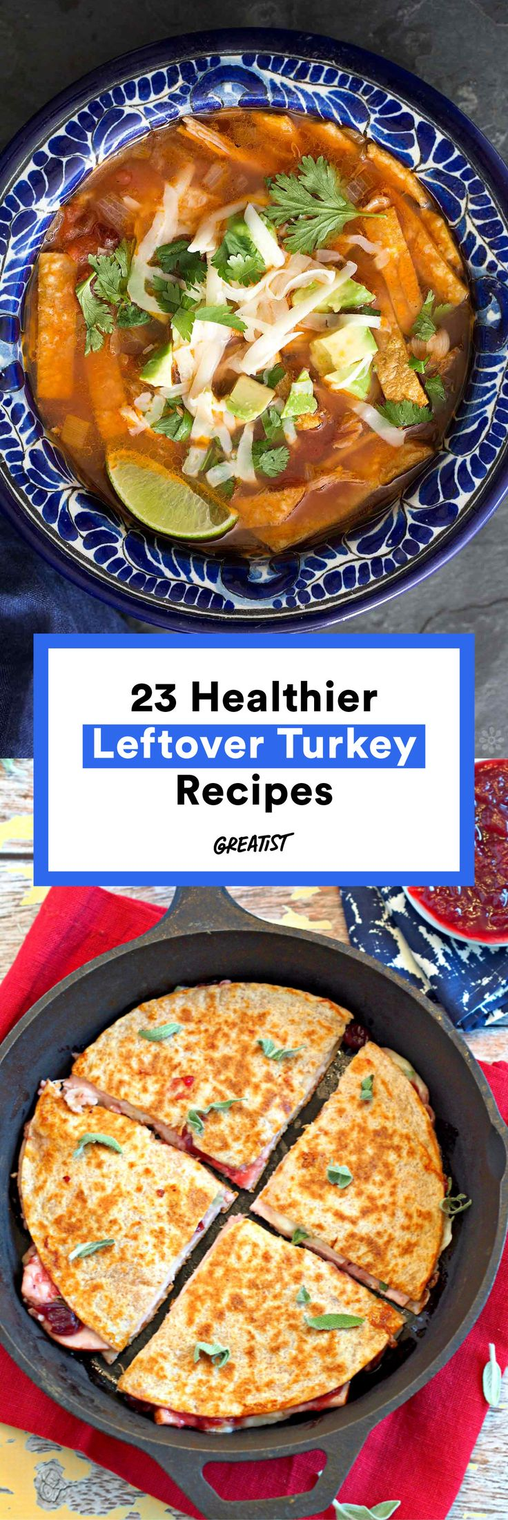 Because plain old sandwiches can get old, fast. #greatist http://greatist.com/eat/leftover-turkey-recipes