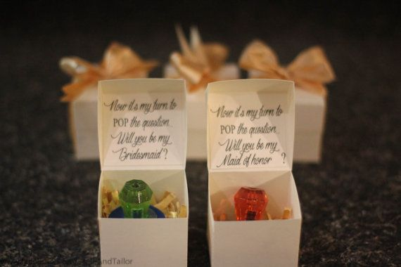 Ring Pop Boxes.  Will you be my bridesmaid  Will by ScaleAndTailor