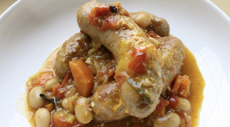 Slow cooker sausages