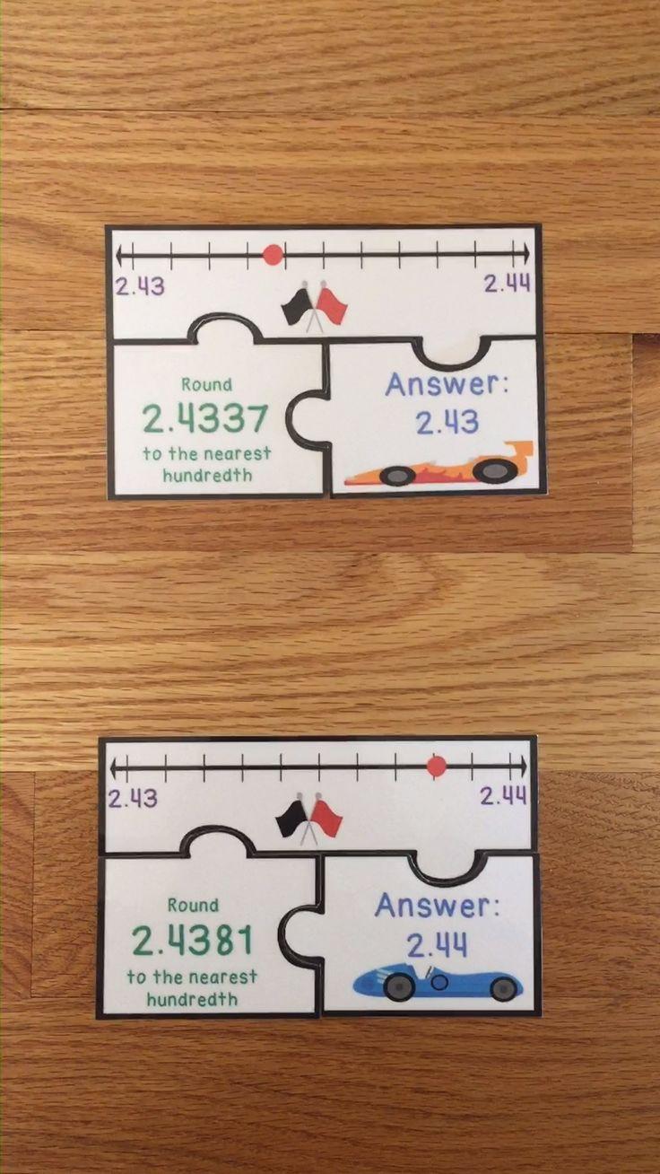 5th Grade Rounding Decimals Game Puzzles Round Decimal