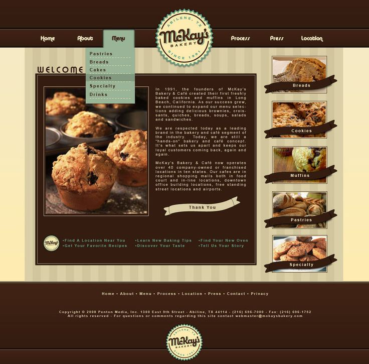 Best 25+ Bakery website ideas on Pinterest | Food website, Simple ...