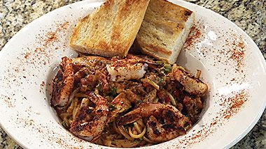 Voodoo Pasta by chef Eric Troup of Frank & Lola's at Margaritaville Beach Hotel