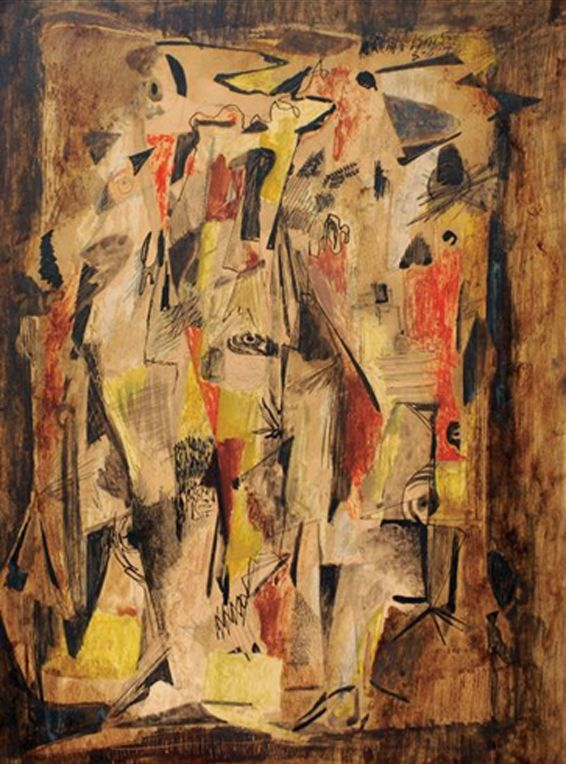 norman lewis paintings | Norman Lewis, 'Untitled, Aug. 8, 1946.' Oil, Gouache, Pen, Ink and ...