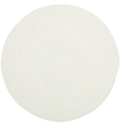 "Capel Custom Classics Light Beige Solid Rug Rug Size: Round 5'6"""