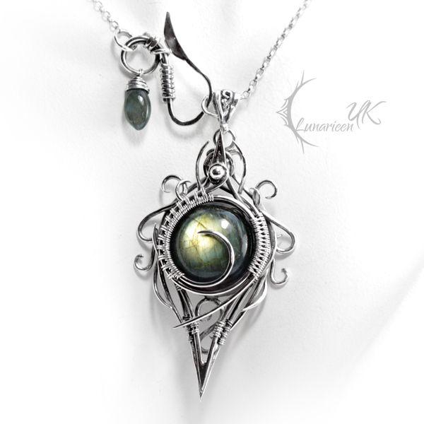 XIGHNAR - silver and labradorite. by LUNARIEEN.deviantart.com on @deviantART