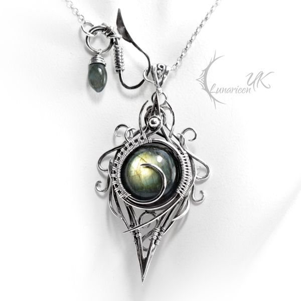 XIGHNAR - silver and labradorite. by LUNARIEEN.deviantart.com on @deviantART