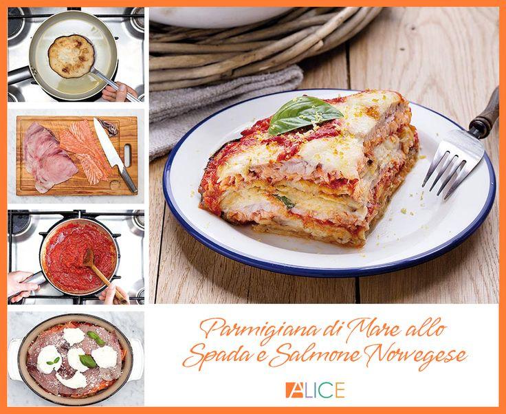 Siete pronti per una rivisitazione gastronomica da leccarsi i baffi? Lo chef Daniele Persegani ci suggerisce come preparare una parmigiana di mare allo spada e salmone norvegese.